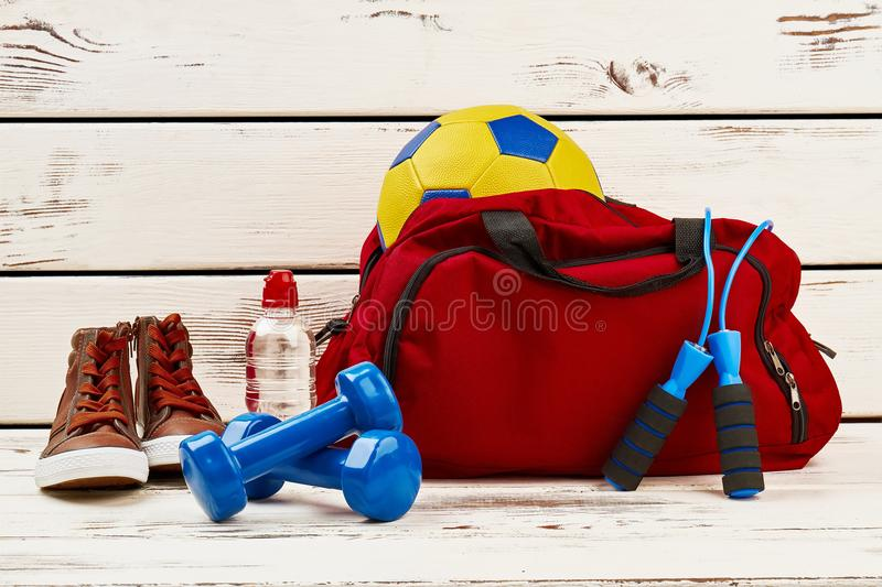 Sportsman`s clothing and equipment royalty free stock images