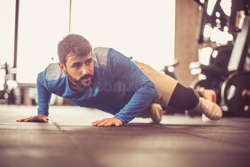 Man working exercise. royalty free stock images