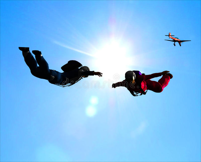 Download Sportsmen-parashutist stock illustration. Illustration of parachute - 9498271