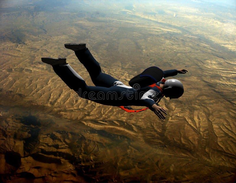 Sportsmen-parashutist Stock Photo