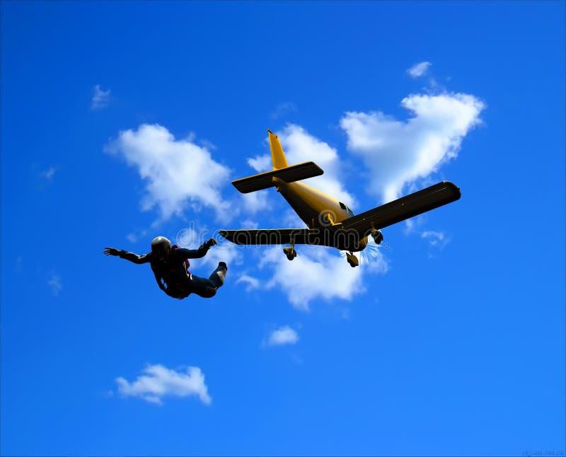 Sportsmen-parashutist Royalty Free Stock Images