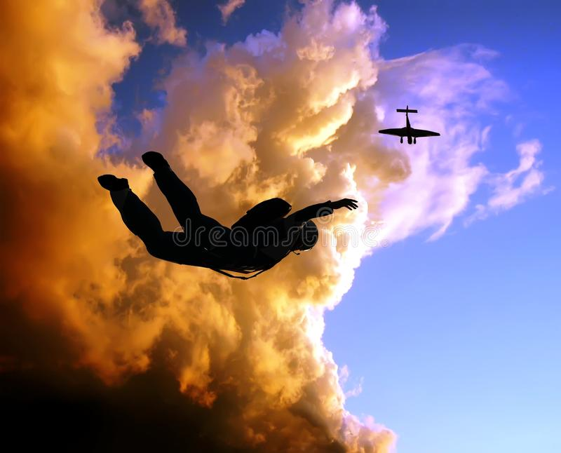 Download Sportsmen-parashutist stock illustration. Illustration of skill - 9500347