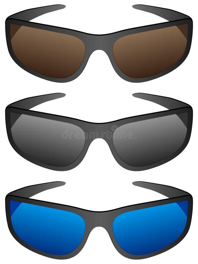Sportsonnenbrillen vektor abbildung