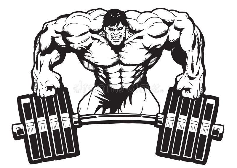 Sportstång royaltyfri illustrationer