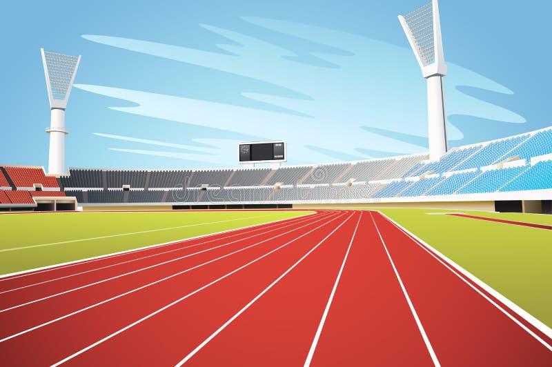 Sportstadion royaltyfri illustrationer