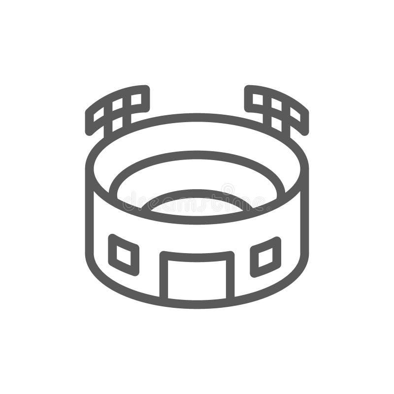 Sportstadion med strålkastare fodrar symbolen vektor illustrationer