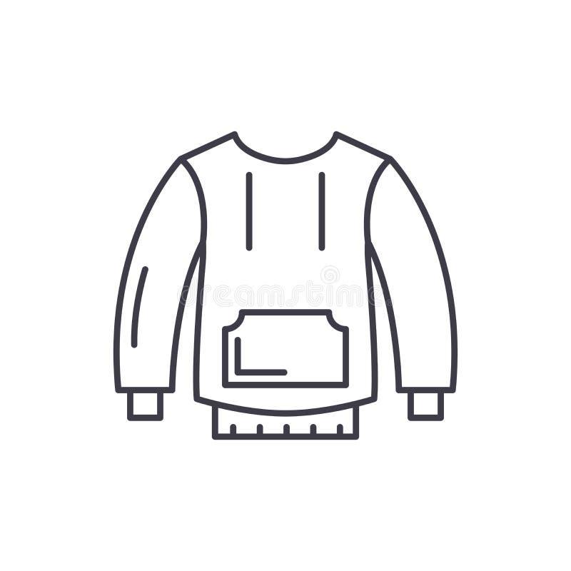 Sportswear έννοια εικονιδίων γραμμών Sportswear διανυσματική γραμμική απεικόνιση, σύμβολο, σημάδι ελεύθερη απεικόνιση δικαιώματος