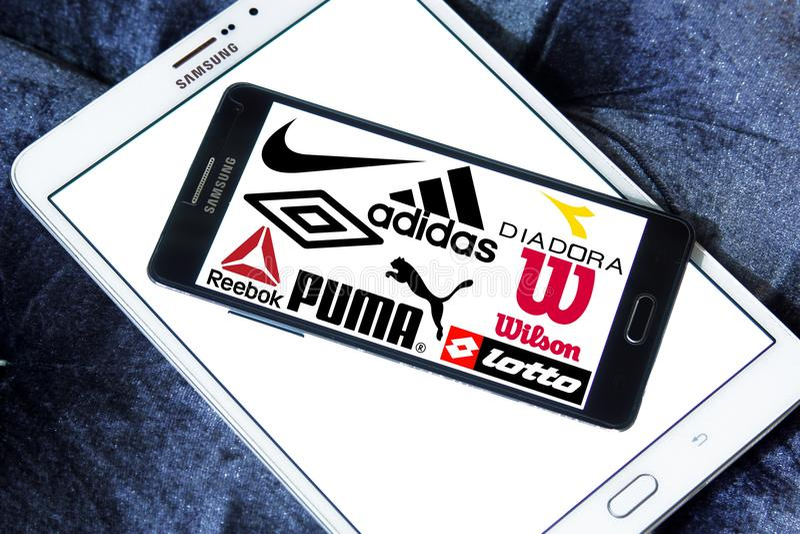 Sportswear λογότυπα και εικονίδια στοκ εικόνες με δικαίωμα ελεύθερης χρήσης