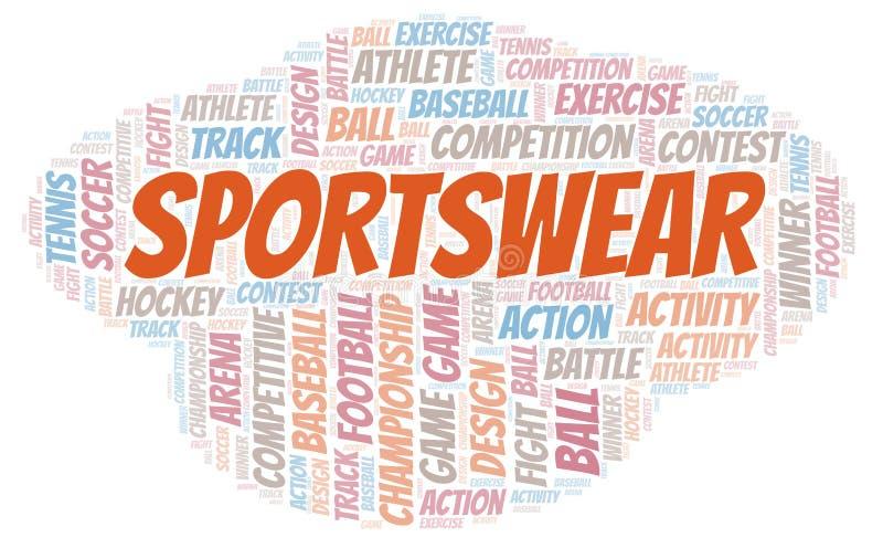 Sportswear σύννεφο λέξης ελεύθερη απεικόνιση δικαιώματος