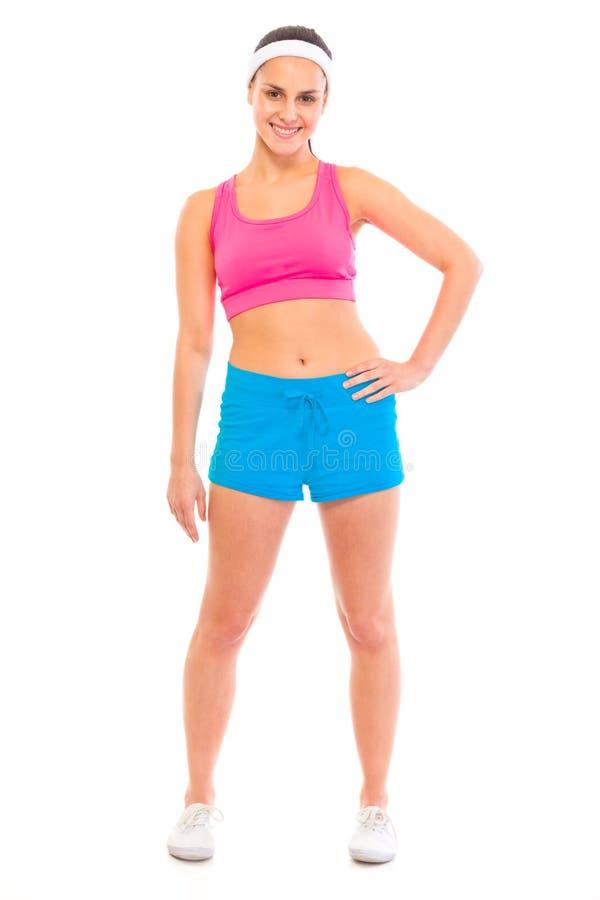 sportswear здорового портрета девушки ся стоковое изображение rf