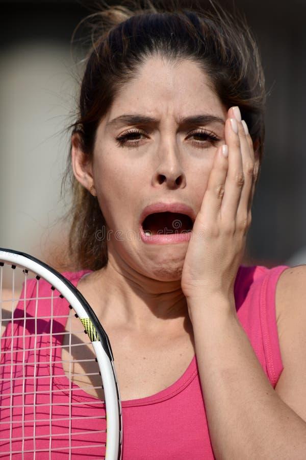 Sportswear chocado de Colombian Woman Wearing do atleta imagem de stock royalty free