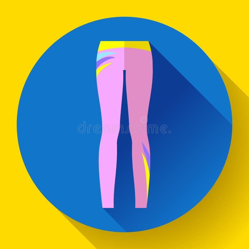 Sportswear da mulher - caneleiras do esporte e da ioga ilustração royalty free