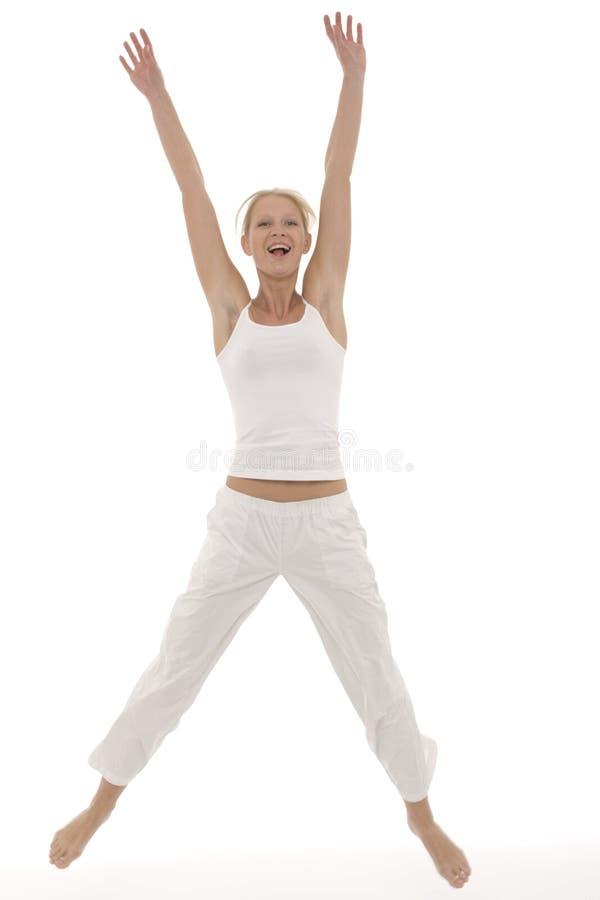 sportswear skokowa kobieta zdjęcia stock