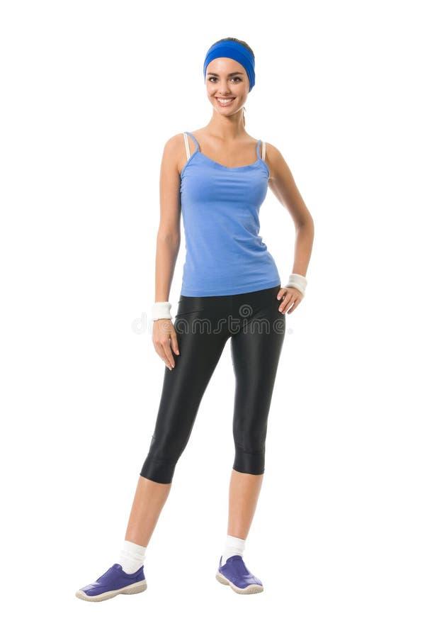 sportswearkvinna royaltyfri fotografi