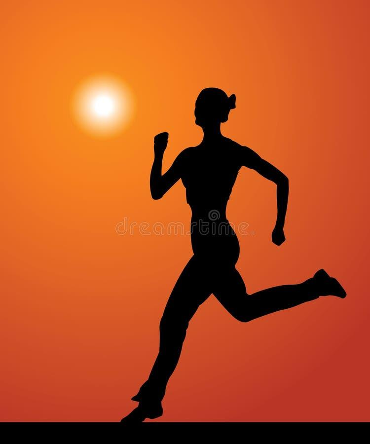 Download Sportswoman stock vector. Image of event, aerobics, person - 20046029