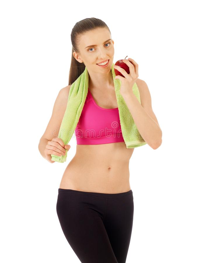 Healthy lifestyle on white stock images