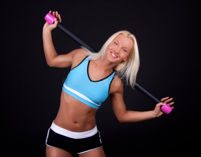 Download Sportswoman Durante Seu Treinamento Imagem de Stock - Imagem de menina, preensão: 12808269