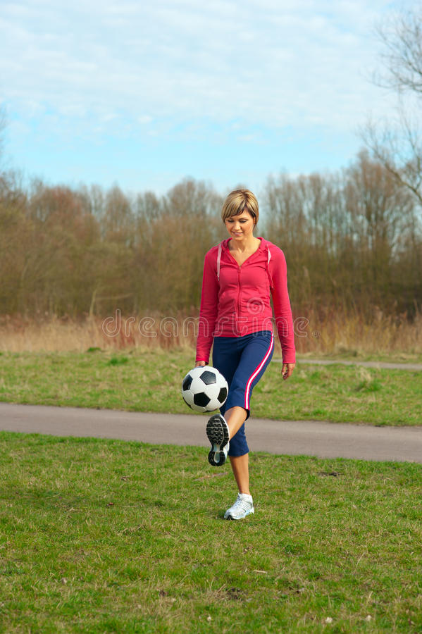 Download Sportswoman Playing With A Ball Stock Photo - Image: 13069708