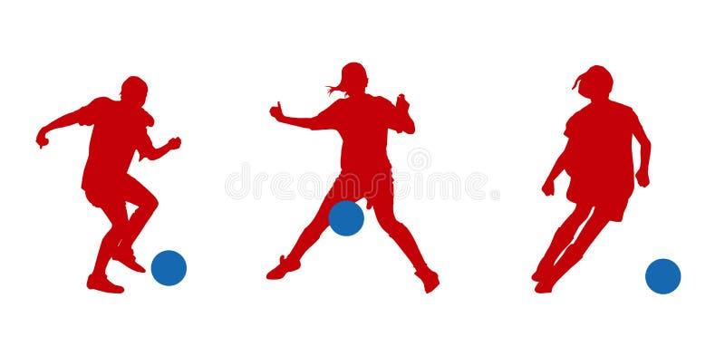 Sportswomans vektor abbildung