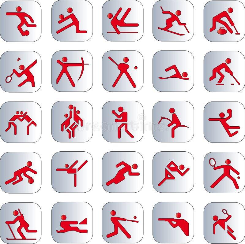 Sportsymbol royaltyfri illustrationer