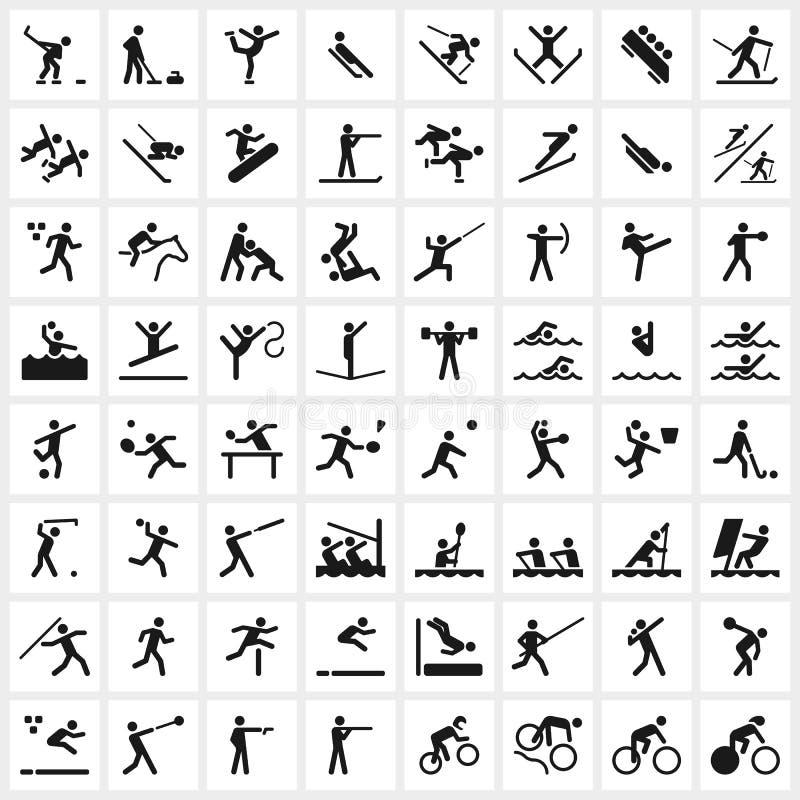 Sportsymbolen stock illustratie