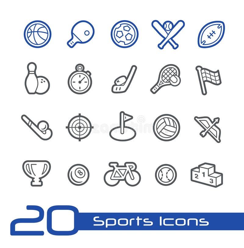 Sportsymbols//linje serie vektor illustrationer