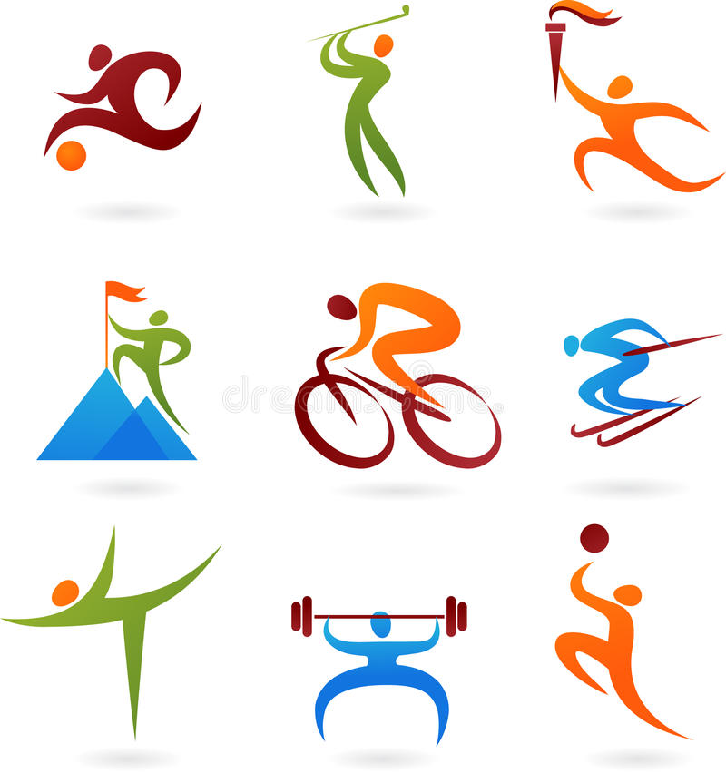 Sportsymbolssamling -4 royaltyfri illustrationer
