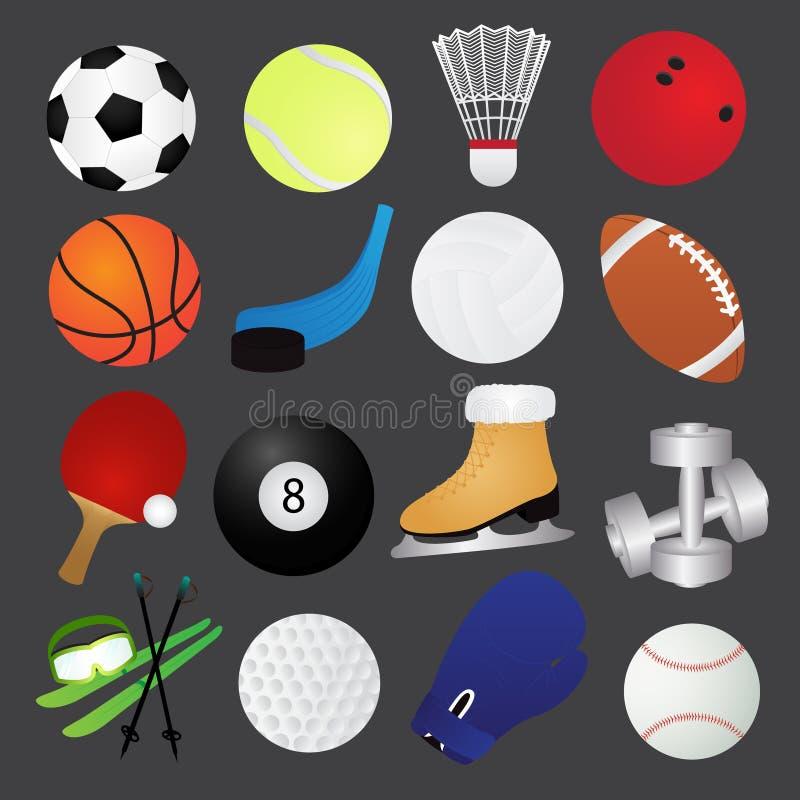 Sportsymbolssamling royaltyfri illustrationer