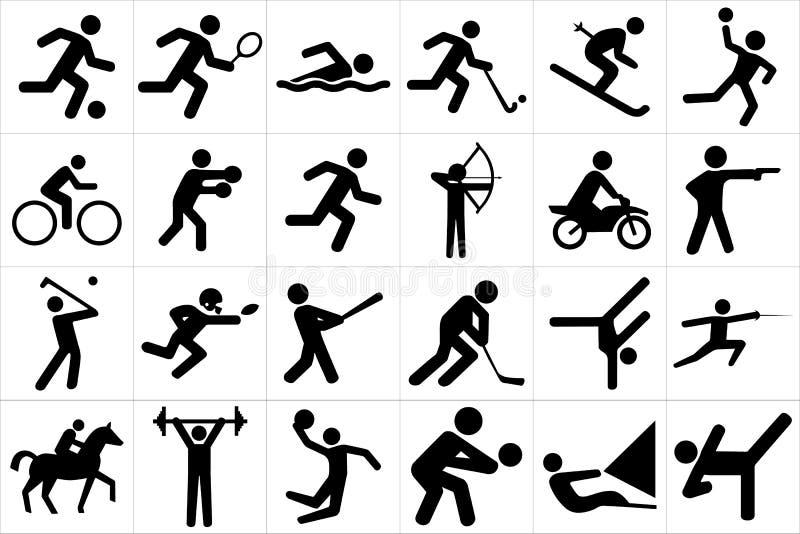 Sportsymbolsuppsättning royaltyfri illustrationer