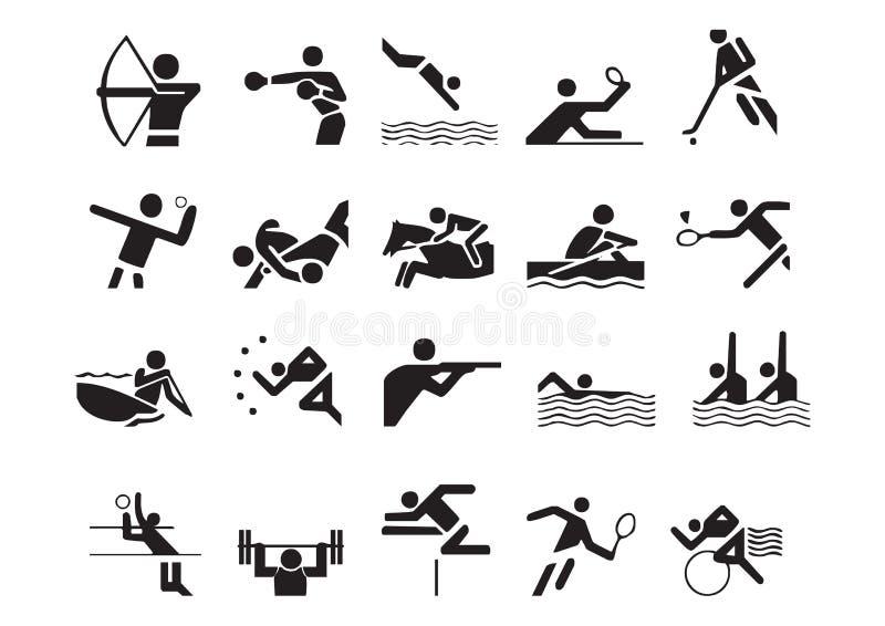 sportsymbolvektor royaltyfri illustrationer