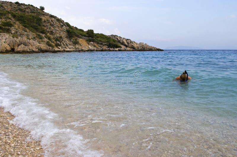 Sporttauchen in Kroatien lizenzfreies stockbild