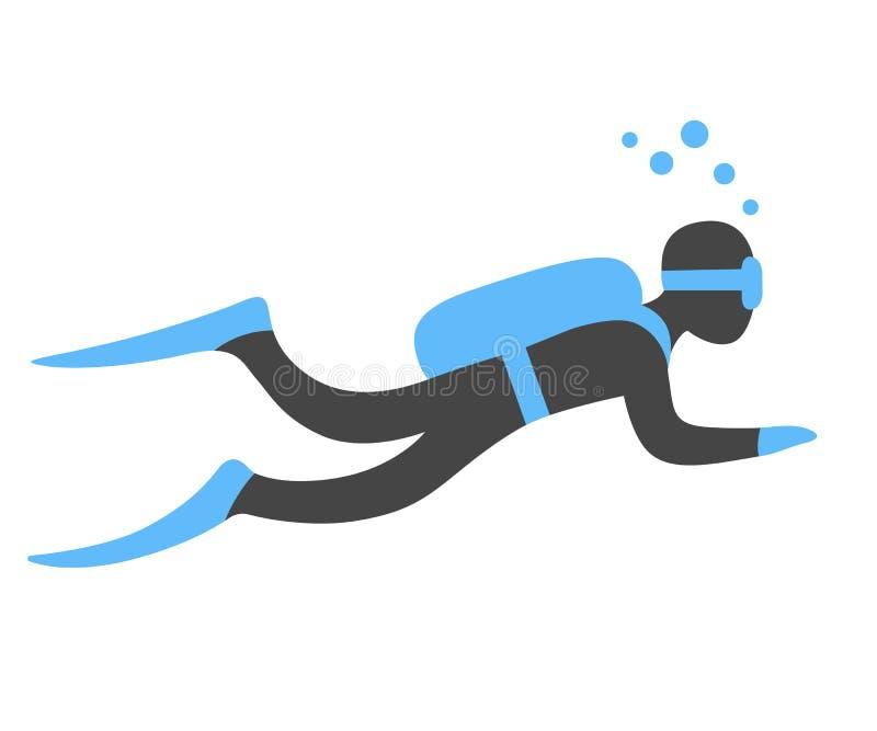 Sporttauchenillustration stock abbildung