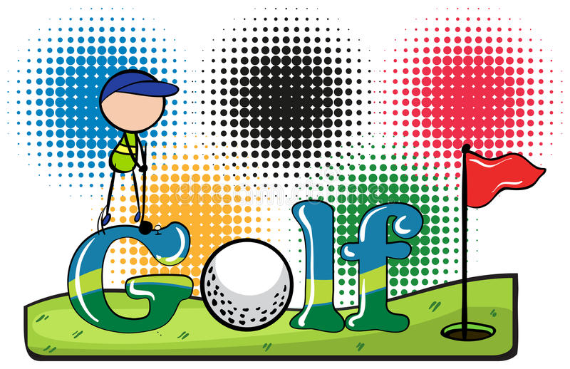 Sporttema med golf vektor illustrationer