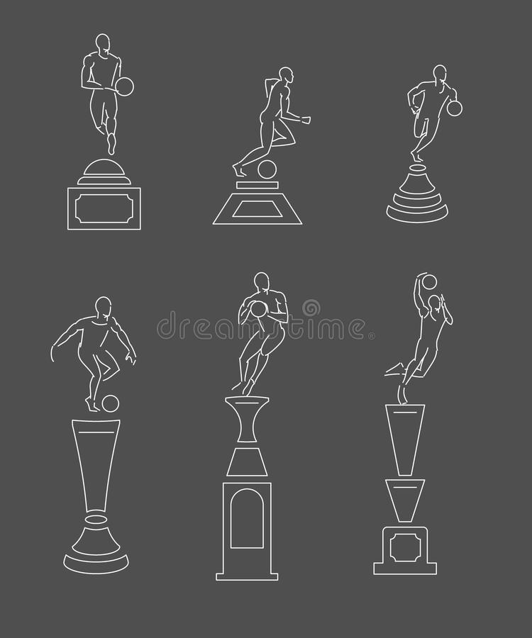 sporttrofé stock illustrationer