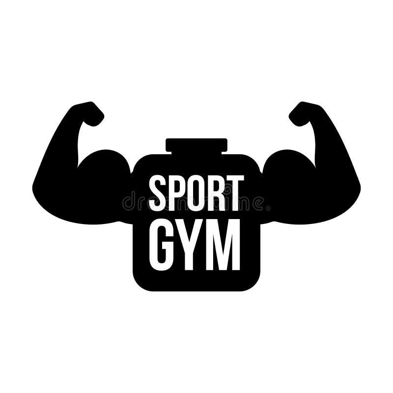 Sportturnhallenvektor-Logokonzept lizenzfreie abbildung