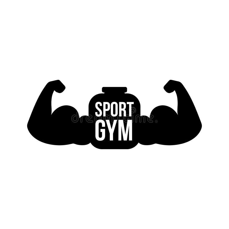 Sportturnhallenvektor-Logokonzept stock abbildung