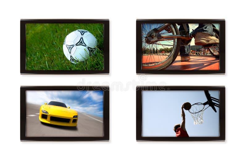sporttv royaltyfria bilder