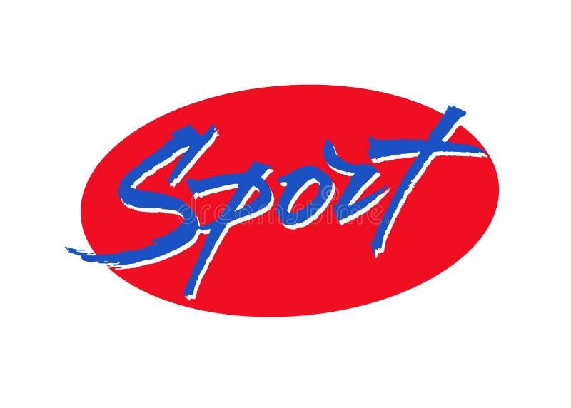Sportvektorbeschriftung stock abbildung