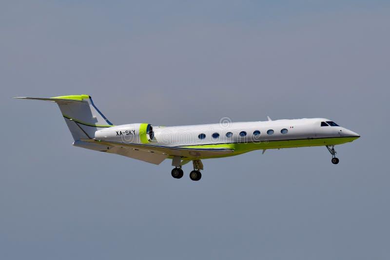Sportvliegtuig Gulfstream G550 stock foto