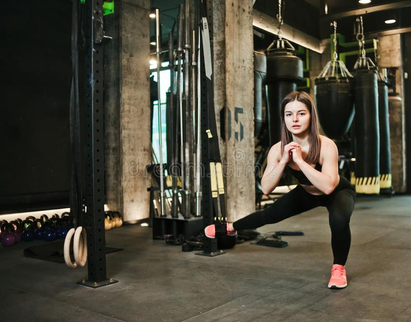 Sportvrouw stock fotografie