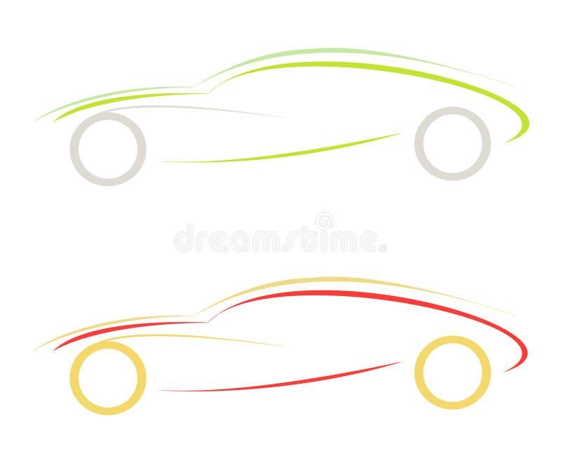 Sportwagen lizenzfreie abbildung