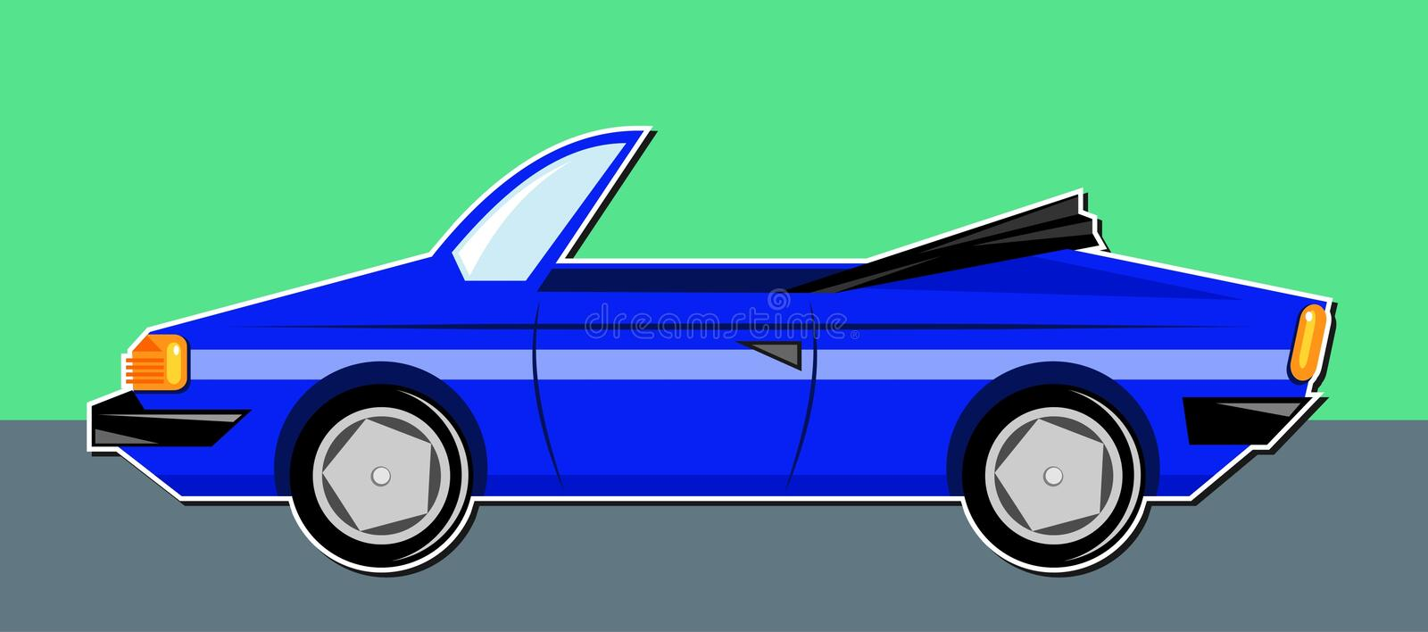 Sportwagen stock illustratie