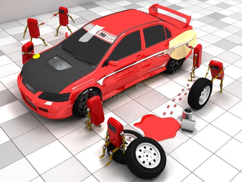 Sportwagen stock illustratie