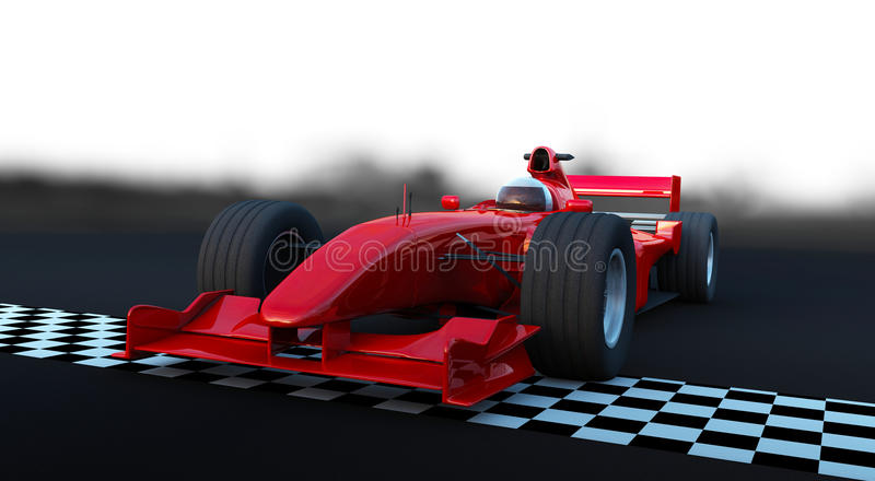 Sportwagen der Formel-1 in der Tätigkeit lizenzfreie abbildung