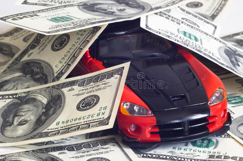 Download Sportwagen en geld stock afbeelding. Afbeelding bestaande uit spoiler - 29500523