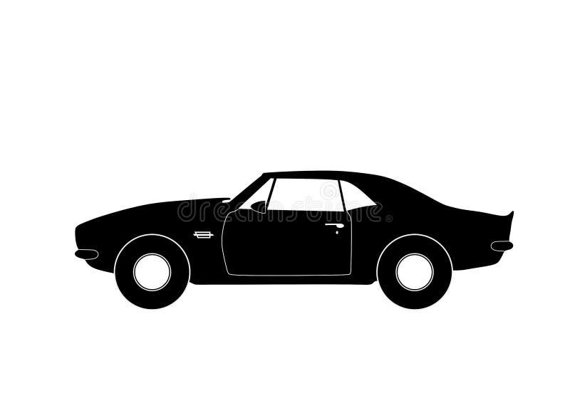Sportwagen geïsoleerd teken in vlakke stijl vector illustratie