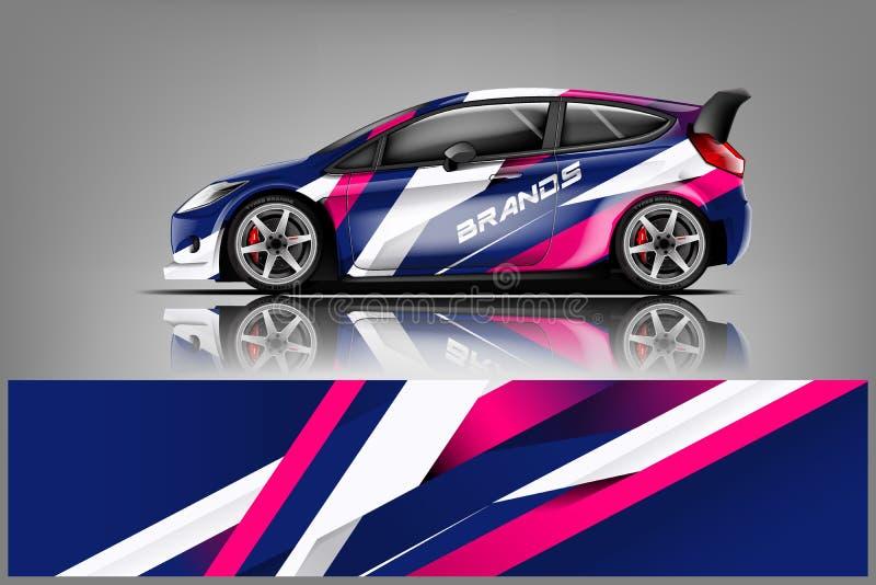 Sportwagen het rennen omslagontwerp Vector ontwerp - Het vector royalty-vrije illustratie