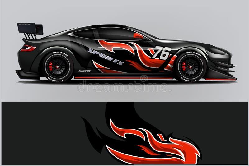 Sportwagen het rennen omslagontwerp Vector ontwerp - Het vector stock illustratie