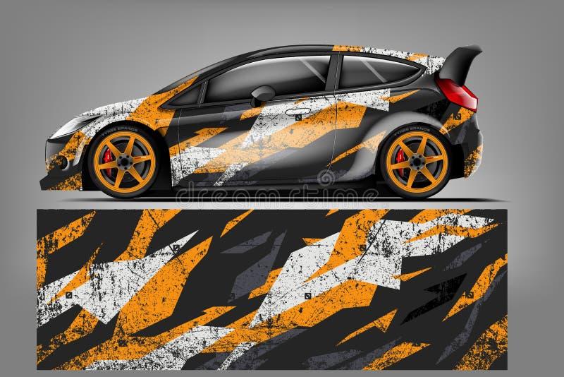 Sportwagen het rennen omslagontwerp Vector ontwerp - Het vector vector illustratie