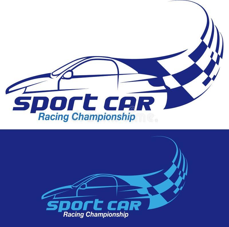 Sportwagen het rennen symbool vector illustratie